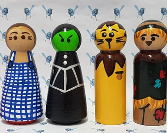 Wooden Peg Dolls - Wizard of Oz