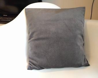 Gray velvet 40 x 40 cm Cushion cover