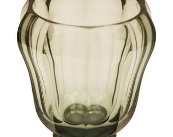 Art Deco Bohemian Crystal Glass Vase