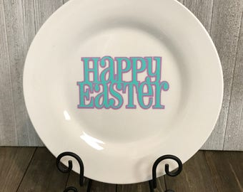 Easter decorative plate