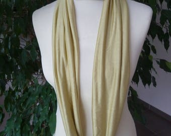 SILK JERSEY SNOOD SCARF