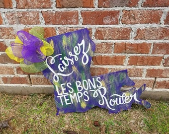 Mardi Gras Louisiana Door Hanger