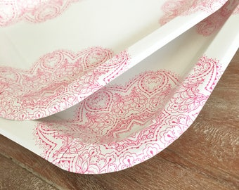 modern medallion party plates island party plates disposable white plates white party plates