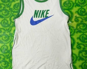 Nike Shirt 80s Tank Top Athletic Shirt Sports Tee Sporty Ringer Running Singlet Retro Vintage 1980s Retro unisex