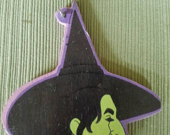 Wicked Witch wooden ornament
