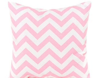 SALE ENDS SOON Pink Zig Zag Pillow Cover, Pink Pillows, Pink and White, Pink Pillowcase, Pink Nursery Pillows, Baby Pink Pillow, Zigzag Pill
