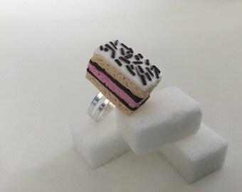 Pink Neapolitan ring