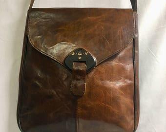 100% genuine leather messenger bag