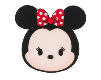 Minnie Mouse Patch - Genuine Disney Applique - Tsum Tsum Minnie Applique - Asian Minnie Mouse Iron On - Embroidered Applique - 3 x 3 inches