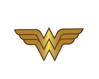 Wonder Woman Iron On Applique, Wonder Woman Patch, Genuine DC Comics Iron On Patch, Superhero Patch, Kids Patch (113856-2.5x5)
