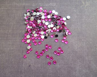 300 set rhinestones 4 mm pink Fuchsia