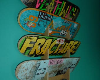 Skateboard Rack. Wall Mounted. Holds up to 4 decks.