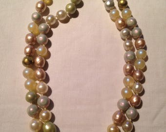 CHANEL - gorgeous and large necklace with fancy pearl beads