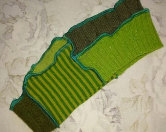Green Headband, Upcycled Sweater Headband