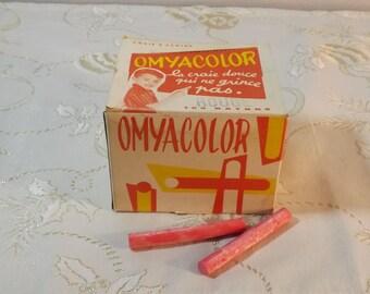 Craies école Omyacolor. France.  Vintage.
