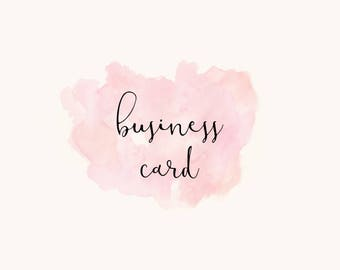 Premade Logo Add-on : Business Card