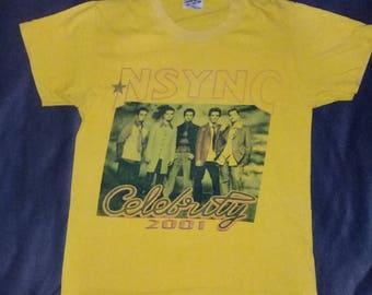 Nsync Celebrity 2001 Tour Tshirt
