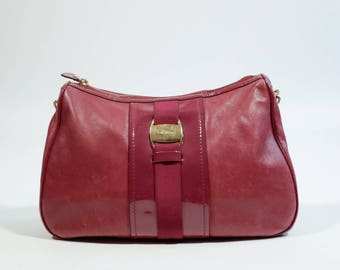 SALVATORE FERRAGAMO - Leather and patent leather bag