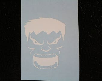 Hulk Face Marvel Decal Any Size Any Colors