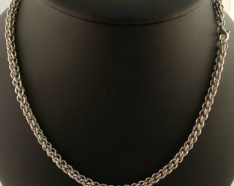 Sterling silver chain mail necklace jpl 3 in 1 snake kind