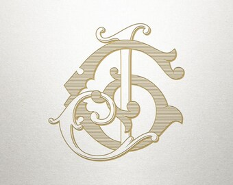 Wedding Monogram Logo - GJ JG - Monogram Logo - Digital