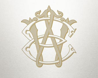 Baroque Monogram Design - EW WE - Baroque Monogram - Digital