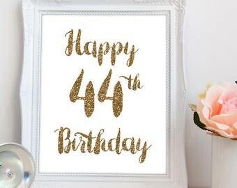 44th Birthday Etsy