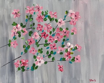 Blossoms - 11 x 14 Acrylic Painting.