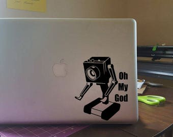 Butterbot - Rick and Morty window decal and laptop sticker