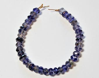 Natural Iolite Faceted Rondelle Loose Beads 5mm, Natural Iolite Beads, Semi precious Gemstone Bead, Full Strand, Wholesale Beads