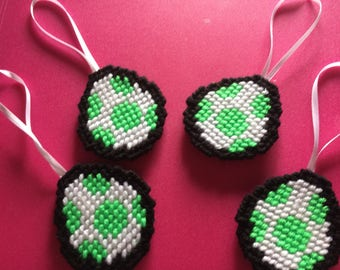 Hand Sewn Mario Brothers Inspired Yoshi Egg Yarn Ornament
