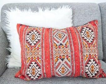 Moroccan Berber Kelim Pillow - Pretty Pale