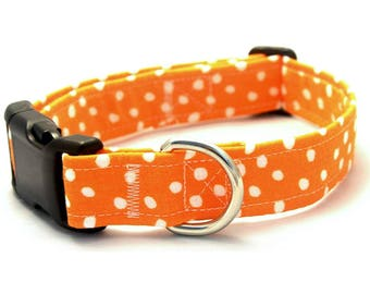 Orange Polka Dot Collar