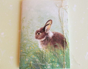 Small Notebook with image of a bunny on the cover