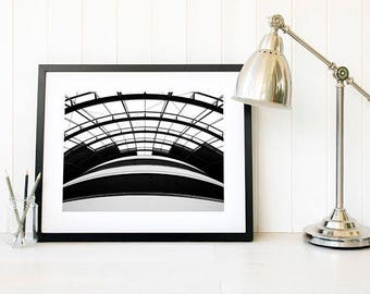Black and white curves, abstract architecture curved roof lines, curved roof, the sage gateshead, north east photography modern architecture