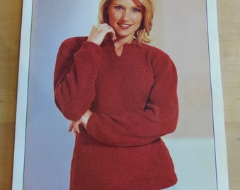 Original Vintage Knitting Pattern Women's Sweater (001)