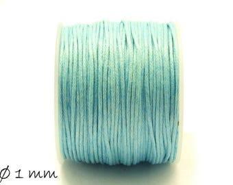 Designed, cotton cord, blue, light blue, Ø 1 mm