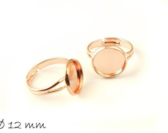 Ring Blanks 17 mm rosé gold with 12 mm Cabochonfassung