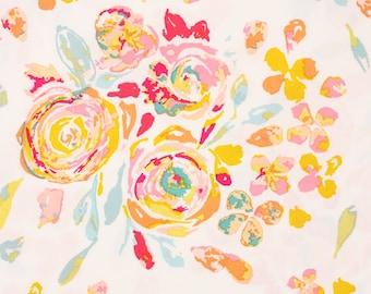 "Fleet and Flourish  Swifting Flora Fond Fabric Art Gallery Fabrics by the Half Yard 18""long × 57""wide"