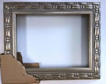6 x 8 Inch Silver Leaf Wood Picture Frame New 003