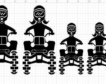4 Wheel  Wheeler Family SVG EPS DXF Studio3 Cut Files
