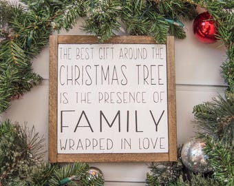 Framed Wooden Sign | Wall Hanging | Christmas Cabin Decor | Family Gift | Cute Christmas Gift | Family Home Decor | Country Christmas Decor