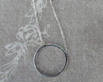 "Silver Choker end ""simple ring"""