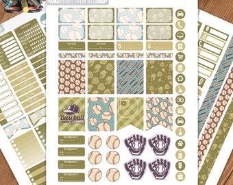 Baseball Planner Stickers Printable,Birthday, Weekly Kit,Stickers for ERIN CONDREN LIFEPLANNER™,Planner Kit,Stickers kit, Instant download