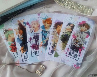 BTS HYYH PT2 Watercolour Splatter Edit Bookmarks