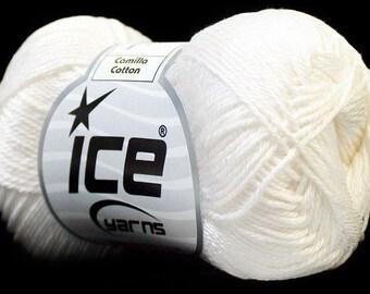 Ball of cotton mercerizing white