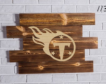 Tennessee Titans Wood Sign Tennessee Titans Wall art Tennessee Titans Gift Tennessee Titans Birthday Tennessee Titans Party wooden