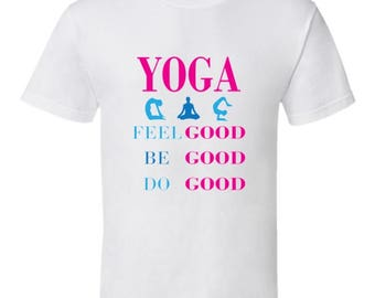Feel Good yoga tshirt,yoga clothing,mindfulness,meditation,om,chakras,asanas,yoga gear,yoga apparel,keep calm tshirts,mantras,kids tshirts