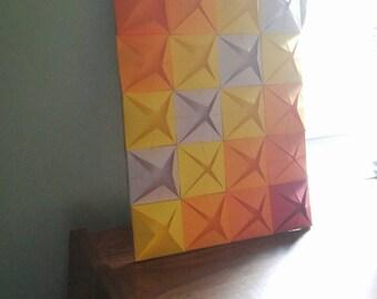 Blintz Base Tesselation (Origami Wall Art, Geometric Wall Art, Origami Art, Wall Art, Paper Art, Geometric Decoration, Nordic Wall Art)