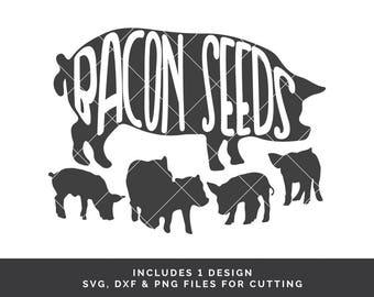 Bacon Seeds - Pig svg - Bacon svg - Funny Quote svg - Sayings svg - Guy svg - Piglet svg - Farm Animal svg